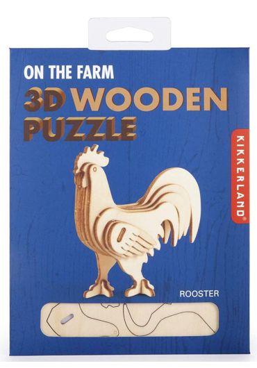 Puzzle lemn 3D - Rooster