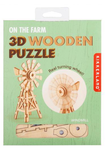 Puzzle lemn 3D - Windmill