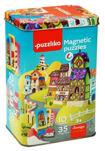 Puzzle Magnetic, Cubika, Sa Construim Casute
