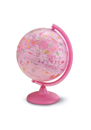 Glob pamantesc PinkZoo 25 cm iluminat