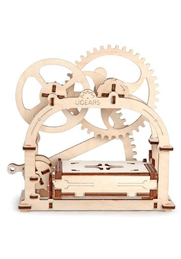 Puzzle 3D lemn - Cutie mecanica