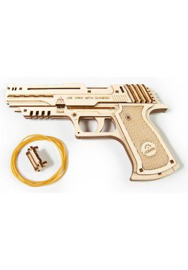 Puzzle 3D lemn - Pistol Wolf