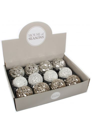 Decoratiune brad - Xmas ball silver