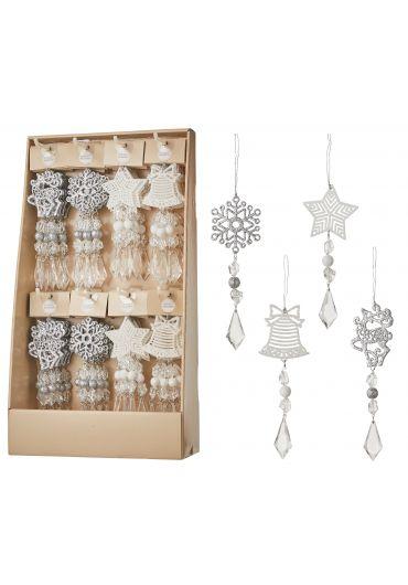Decoratiune brad - Xmas icicle silver white