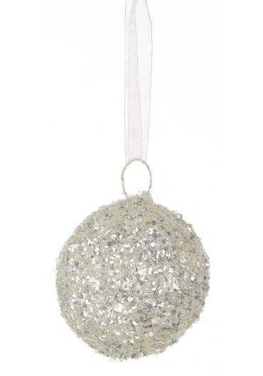 Decoratiune brad - Xmas ball white