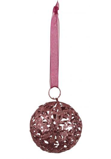 Decoratiune brad - Xmas ball pink