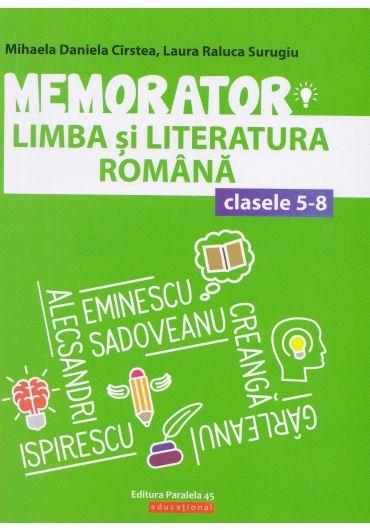 Memorator de limba si literatura romana, clasele V-VIII