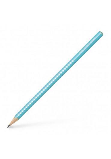 Creion grafit  B Sparkle turcoaz