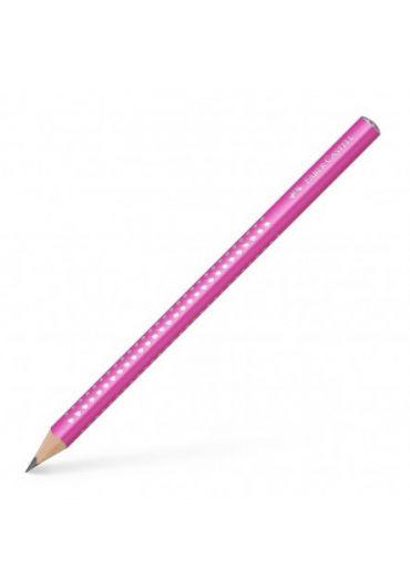 Creion grafit  B Sparkle Jumbo roz