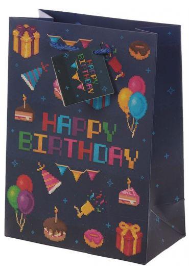 Punga cadou medie - Happy Birthday Game Over design