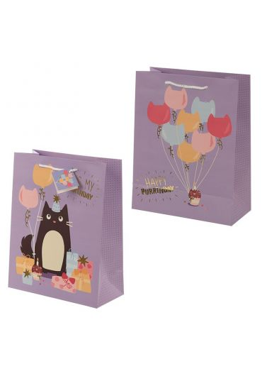 Punga cadou mare - Happy Purrthday Feline Fine Cat