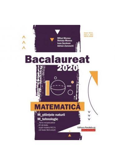 Bacalaureat 2020 pentru Matematica M_stiintele-naturii si M_tehnologic