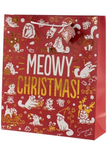 Punga cadou XL - Simon's Cat Meowy Xmas