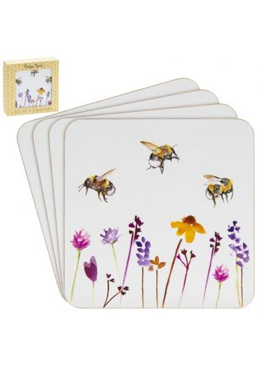 Set 4 suporturi pahare - Busy Bees