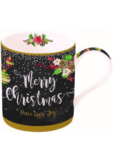 Cana portelan - Merry Christmas - Peace, Love, Joy