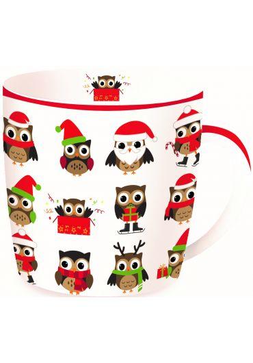 Cana portelan - Christmas Owls