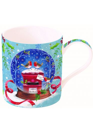Cana portelan - With love at Christmas Robins