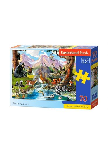 Puzzle 70 piese Forest Animals