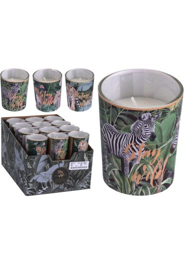Lumanare parfumata in pahar decorativ - Stay wild 6 cm