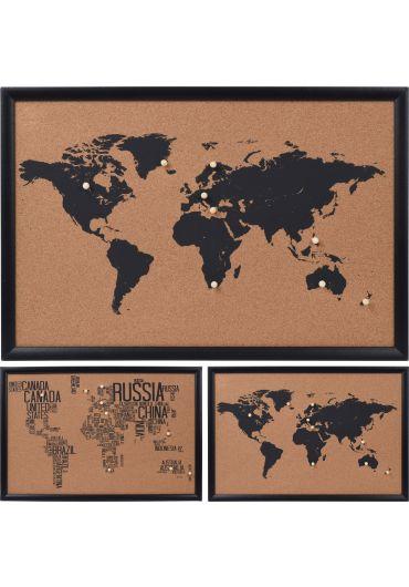 Harta 60 x 40 cm din pluta