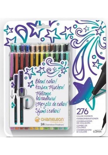 Set 24 Fineliner Chameleon Chanching Color Bold