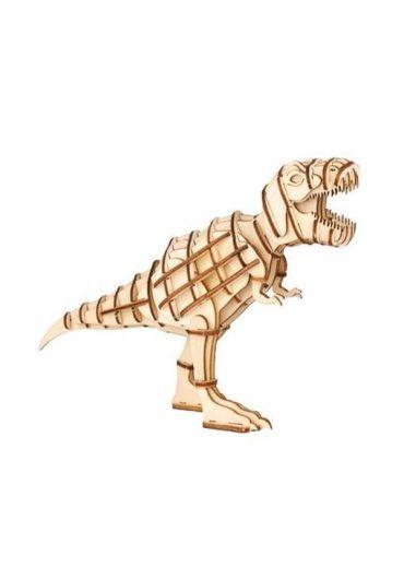 Puzzle T-Rex 3D lemn