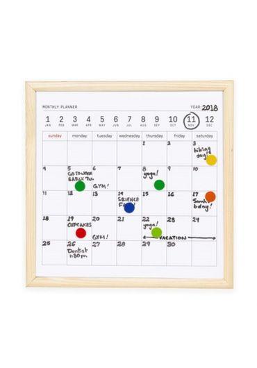 Mini whiteboard calendar