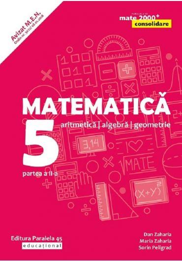 Matematica. Aritmetica, algebra, geometrie. Clasa a V-a. Consolidare. Partea II