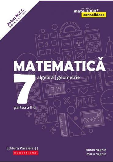 Matematica. Aritmetica, algebra, geometrie. Clasa a VII-a. Consolidare. Partea II