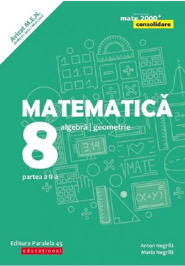 Matematica. Aritmetica, algebra, geometrie. Clasa a VIII-a. Consolidare. Partea II