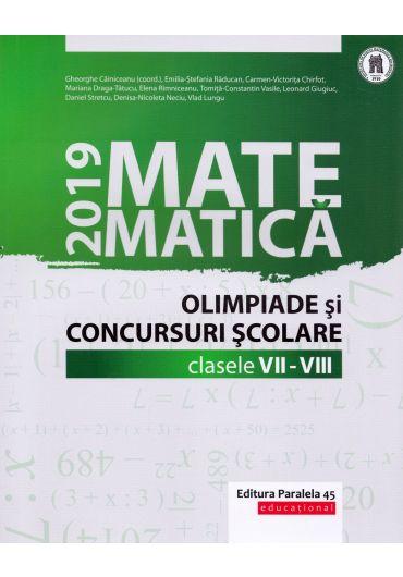 Matematica in olimpiade si concursurile scolare VII-VIII 2019