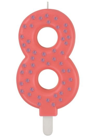 Lumanare aniversara Maxi - Cifra 8 - Pink