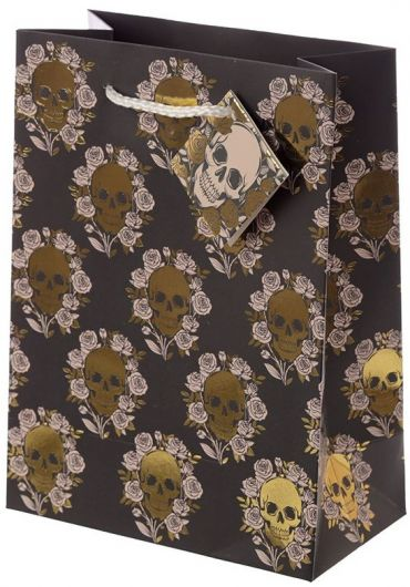 Punga cadou medie - Metallic Skulls and Roses
