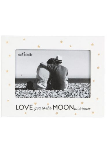 Rama foto - Love you to the moon and back golden stars