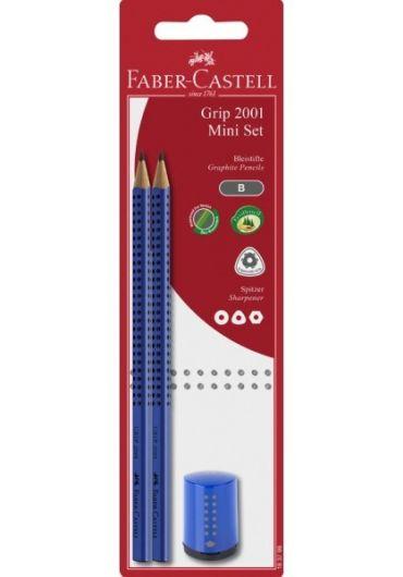 Blister 2 creioane grafit grip 2001 + ascutitoare mini