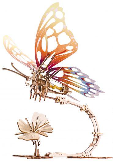 Puzzle 3D lemn - Fluture mecanic
