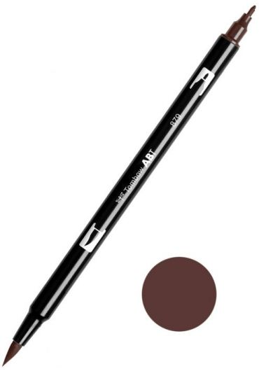 Marker Tombow ABT Dual Brush Brown