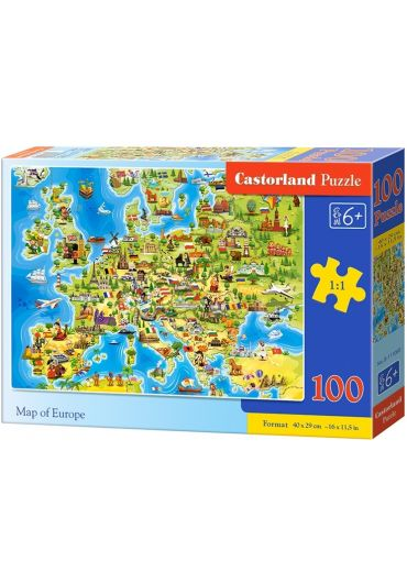 Puzzle 100 piese Map of Europe