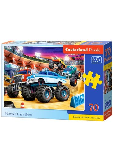 Puzzle 70 piese Monster Truck Show