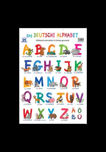 Plansa - Alfabetul animalelor in limba germana