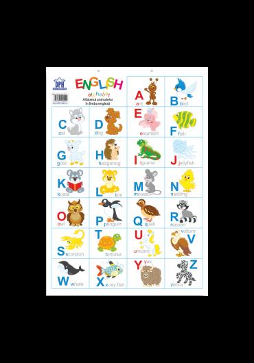 Plansa - Alfabetul animalelor in limba engleza