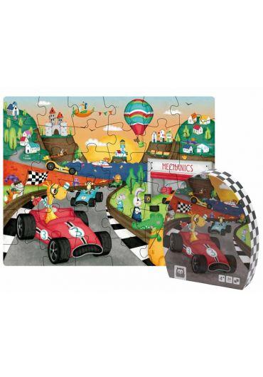 Puzzle educativ - Karting
