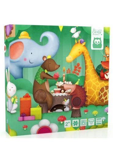 Puzzle tactil - Petrecerea animalelor