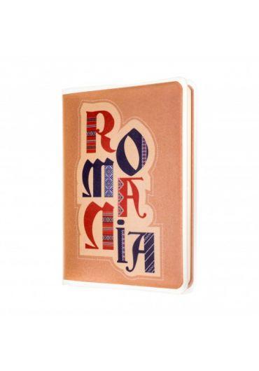 Agenda nedatata Romania beige foaie alba 120 pagini