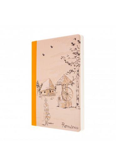 Agenda nedatata satul romanesc galben foaie alba 144 pagini