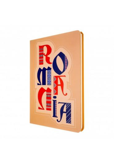 Agenda nedatata Romania beige foaie alba 144 pagini