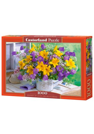 Puzzle 1000 piese Bouquet of Lilies and Bellflowers