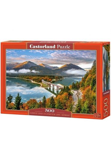 Puzzle 500 piese Sunrise over Sylvenstein Lake