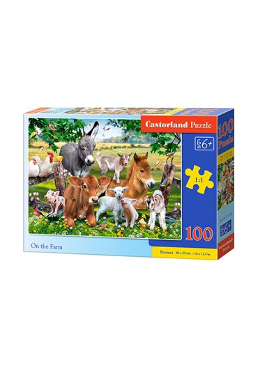 Puzzle 100 piese On the Farm