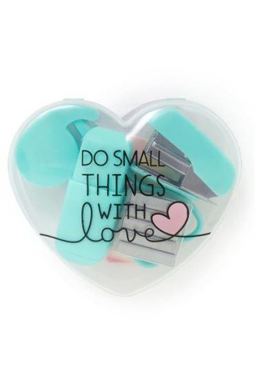 Mini Stationery Set Heart